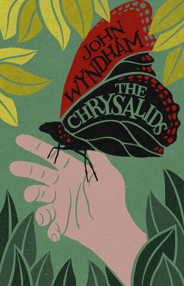Book cover illustration by John Holcroft of The Chrysalids by John Wyndham