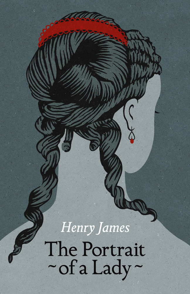 Book cover illustration by John Holcroft of Henry James' The portrait of a lady