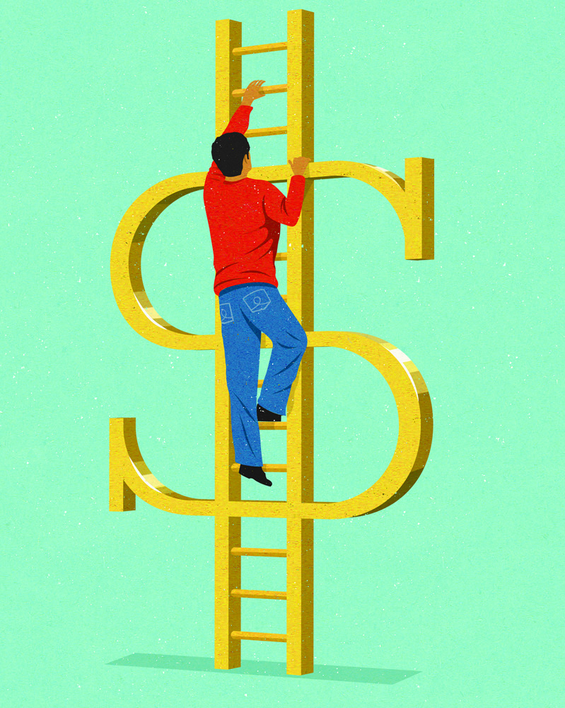 money ladder showing success (johnholcroft.com)