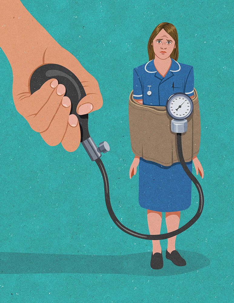 nurses under stress and pressure can cause tiredness leading to illness (johnholcroft.com)