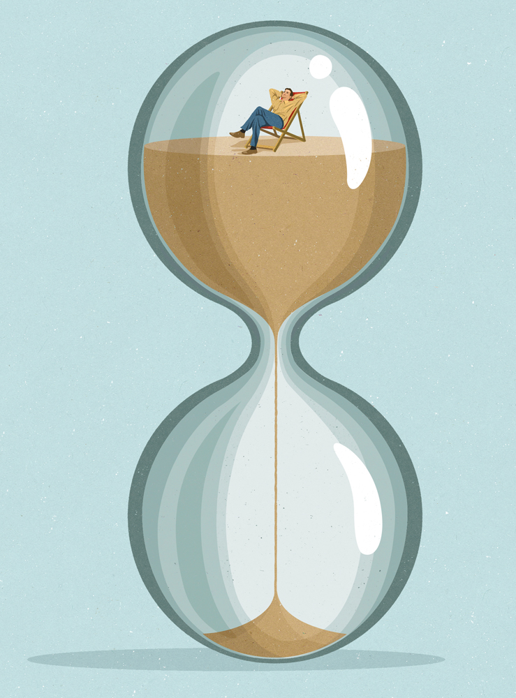 editorial illustration about waiting and patience