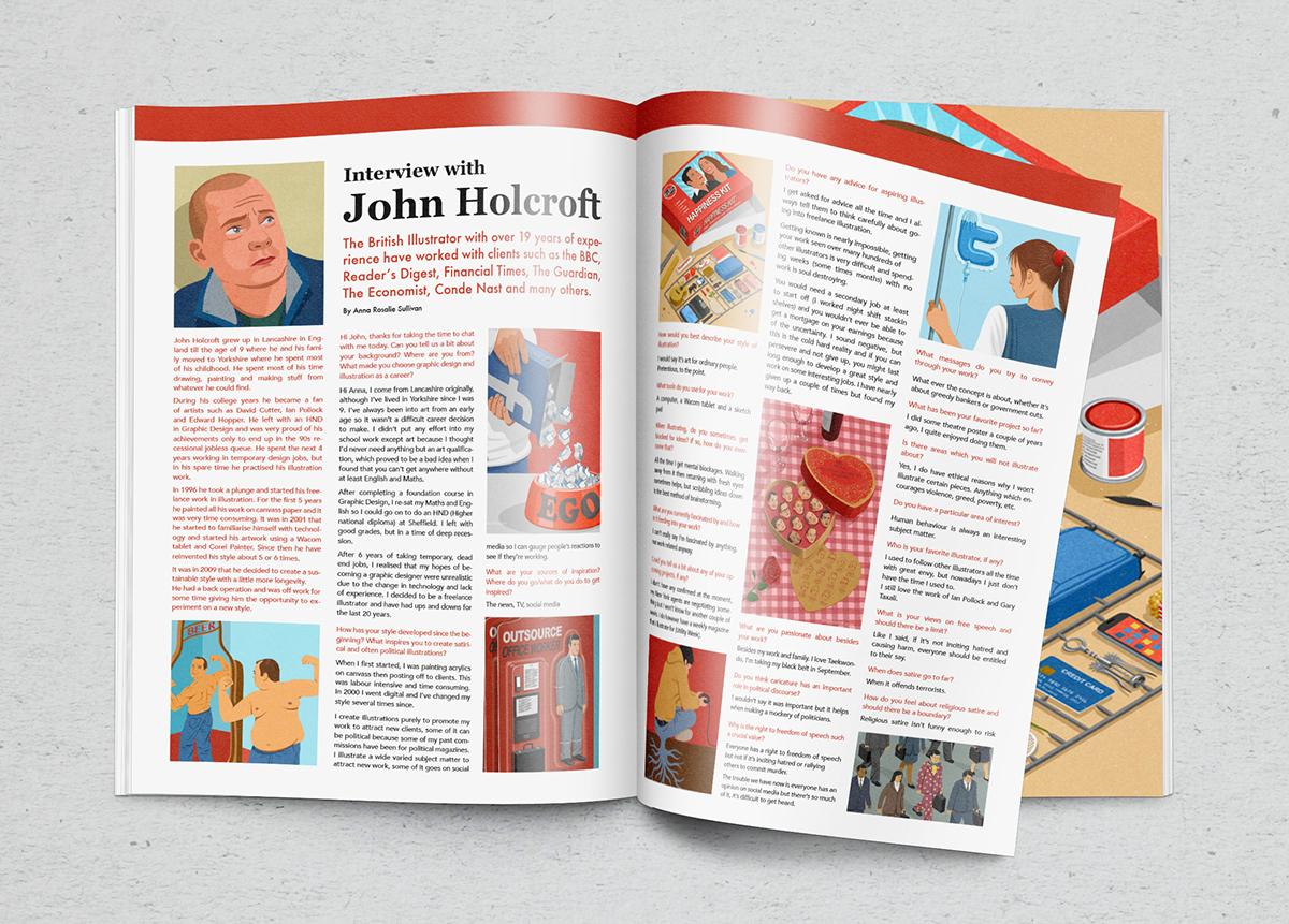 John Holcroft conceptual and editorial Illustrator