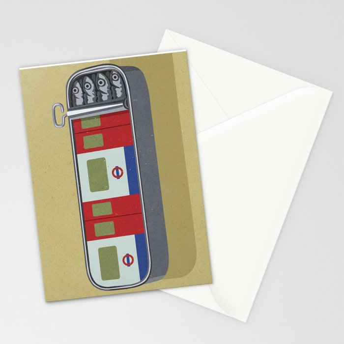 Art print stationery card by John Holcroft conceptual illustrator, this can be purchased from society6.com along with many others.